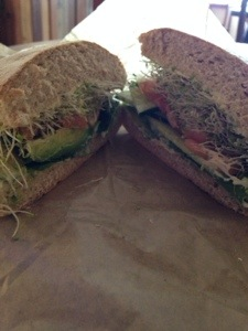 Peace Cafe's avocado sandwich. It was good. I could have used mustard and more veggies, but it hit the spot after my 3-hour visit was coming to an end.